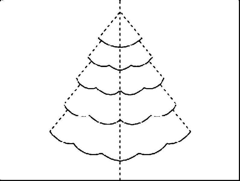 Объемная елка из бумаги — схемы и трафареты для создания елки своими руками этап 12