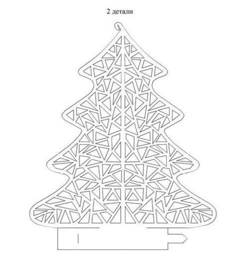 Объемная елка из бумаги — схемы и трафареты для создания елки своими руками этап 13
