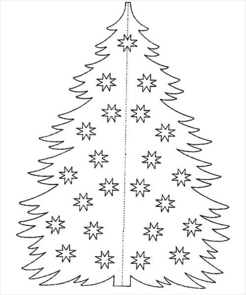 Объемная елка из бумаги — схемы и трафареты для создания елки своими руками этап 14
