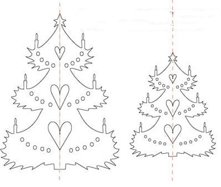 Объемная елка из бумаги — схемы и трафареты для создания елки своими руками этап 9