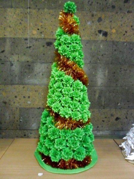 Объемная елка из бумаги — схемы и трафареты для создания елки своими руками этап 89