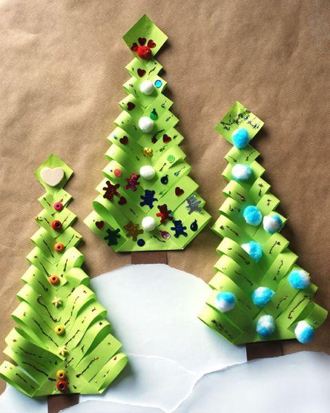 Объемная елка из бумаги — схемы и трафареты для создания елки своими руками этап 20