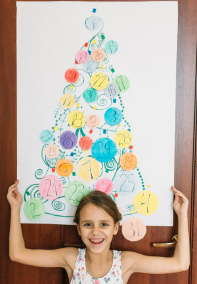 Адвент-календарь для детей к Новому году своими руками с шаблонами и заданиями, которые можно распечатать этап 70