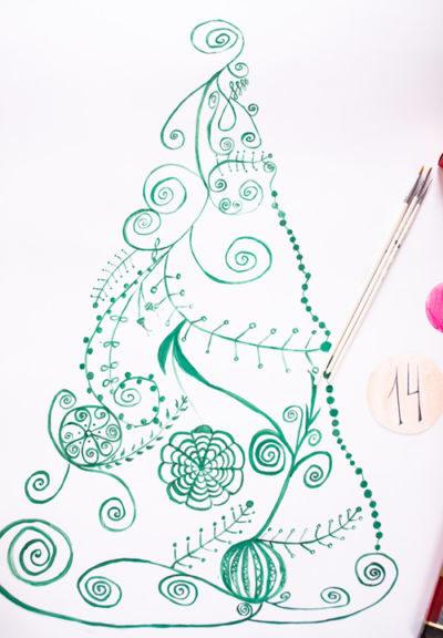 Адвент-календарь для детей к Новому году своими руками с шаблонами и заданиями, которые можно распечатать этап 71