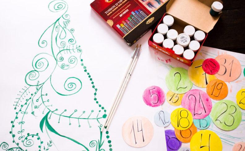 Адвент-календарь для детей к Новому году своими руками с шаблонами и заданиями, которые можно распечатать этап 73