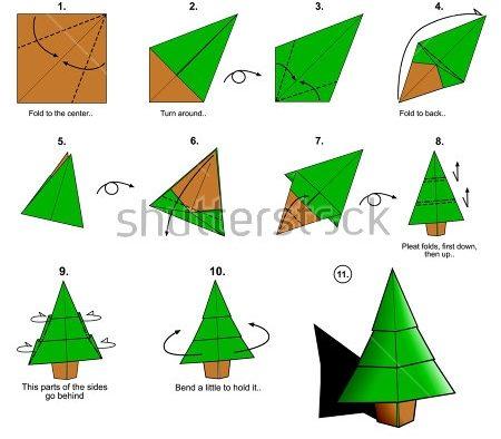 Объемная елка из бумаги — схемы и трафареты для создания елки своими руками этап 45