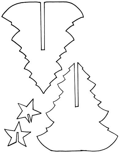 Объемная елка из бумаги — схемы и трафареты для создания елки своими руками этап 5