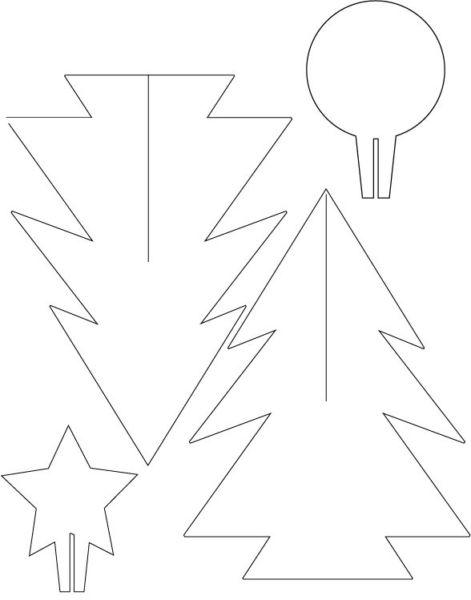 Объемная елка из бумаги — схемы и трафареты для создания елки своими руками этап 4