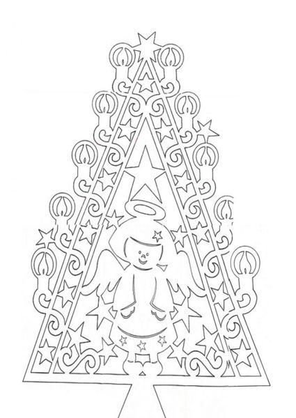 Объемная елка из бумаги — схемы и трафареты для создания елки своими руками этап 70