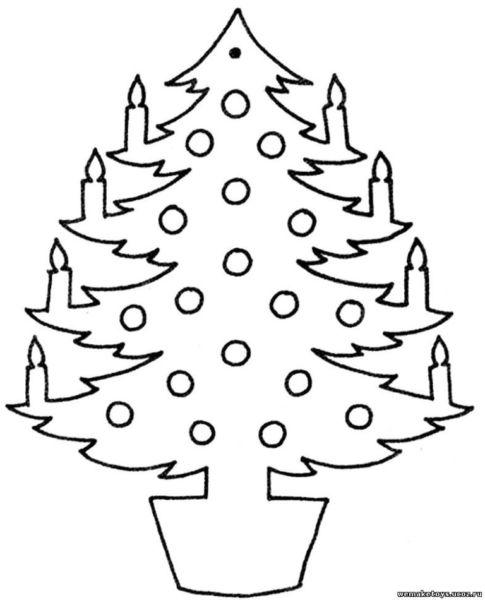 Объемная елка из бумаги — схемы и трафареты для создания елки своими руками этап 63