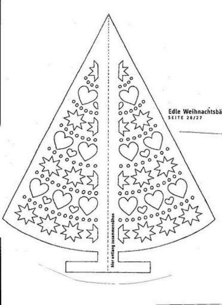 Объемная елка из бумаги — схемы и трафареты для создания елки своими руками этап 64