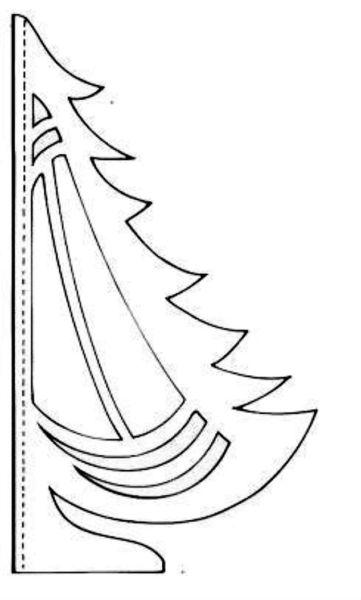 Объемная елка из бумаги — схемы и трафареты для создания елки своими руками этап 66