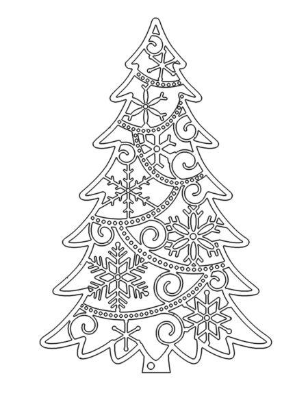 Объемная елка из бумаги — схемы и трафареты для создания елки своими руками этап 67