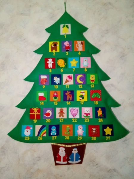 Адвент-календарь для детей к Новому году своими руками с шаблонами и заданиями, которые можно распечатать этап 25