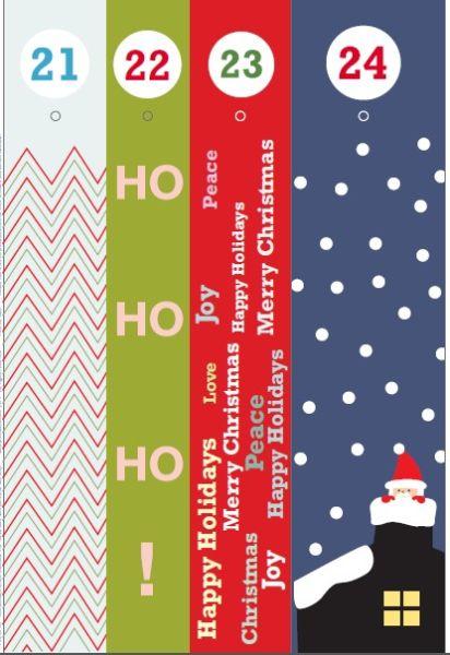 Адвент-календарь для детей к Новому году своими руками с шаблонами и заданиями, которые можно распечатать этап 55