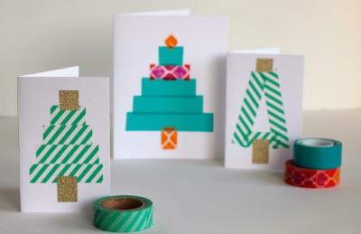 Новогодние открытки своими руками для детей: мастер-классы и шаблоны открыток на Новый год 2021 этап 55