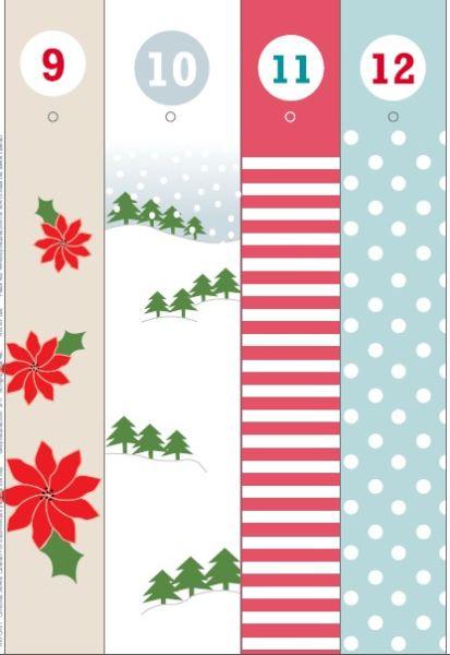 Адвент-календарь для детей к Новому году своими руками с шаблонами и заданиями, которые можно распечатать этап 52