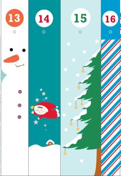 Адвент-календарь для детей к Новому году своими руками с шаблонами и заданиями, которые можно распечатать этап 53