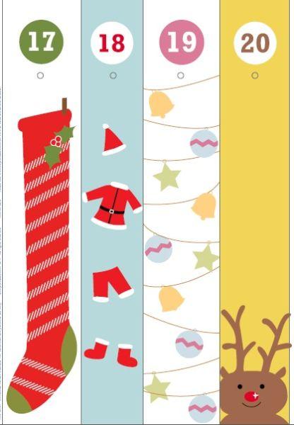 Адвент-календарь для детей к Новому году своими руками с шаблонами и заданиями, которые можно распечатать этап 54