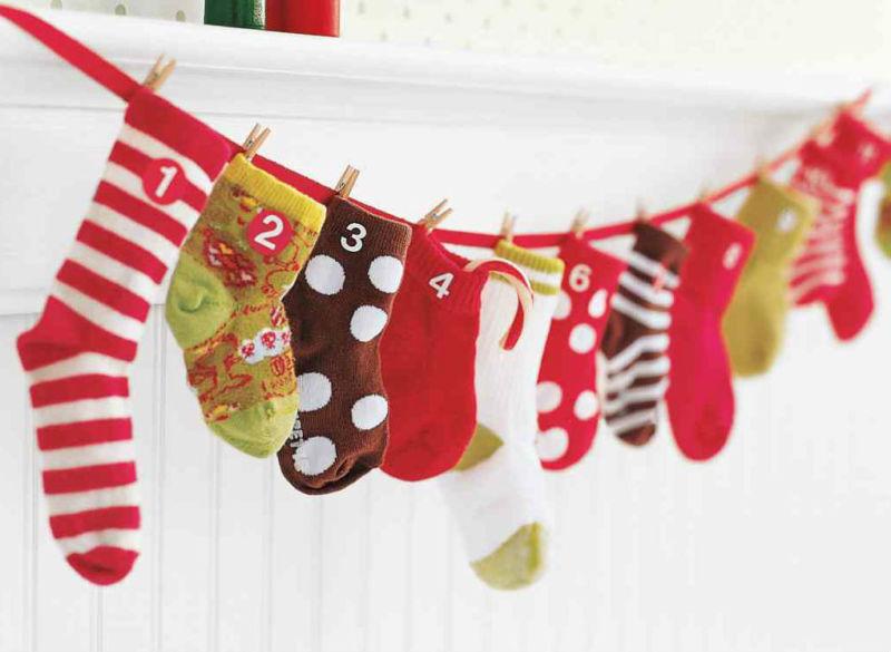 Адвент-календарь для детей к Новому году своими руками с шаблонами и заданиями, которые можно распечатать этап 27