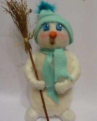 Снеговик своими руками на Новый год из подручных материалов этап 127