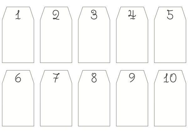 Адвент-календарь для детей к Новому году своими руками с шаблонами и заданиями, которые можно распечатать этап 5