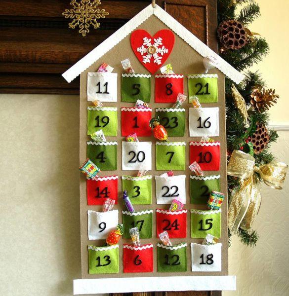 Адвент-календарь для детей к Новому году своими руками с шаблонами и заданиями, которые можно распечатать этап 23