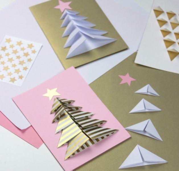 Новогодние открытки своими руками для детей: мастер-классы и шаблоны открыток на Новый год 2021 этап 22