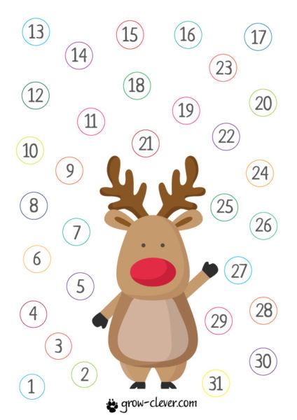 Адвент-календарь для детей к Новому году своими руками с шаблонами и заданиями, которые можно распечатать этап 64