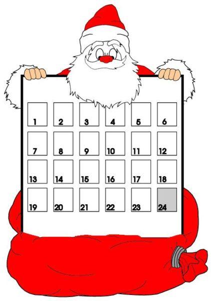 Адвент-календарь для детей к Новому году своими руками с шаблонами и заданиями, которые можно распечатать этап 60