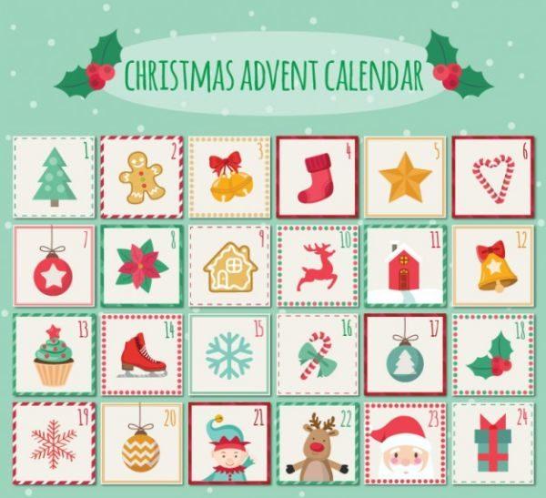 Адвент-календарь для детей к Новому году своими руками с шаблонами и заданиями, которые можно распечатать этап 67