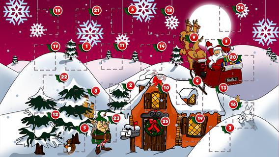 Адвент-календарь для детей к Новому году своими руками с шаблонами и заданиями, которые можно распечатать этап 68