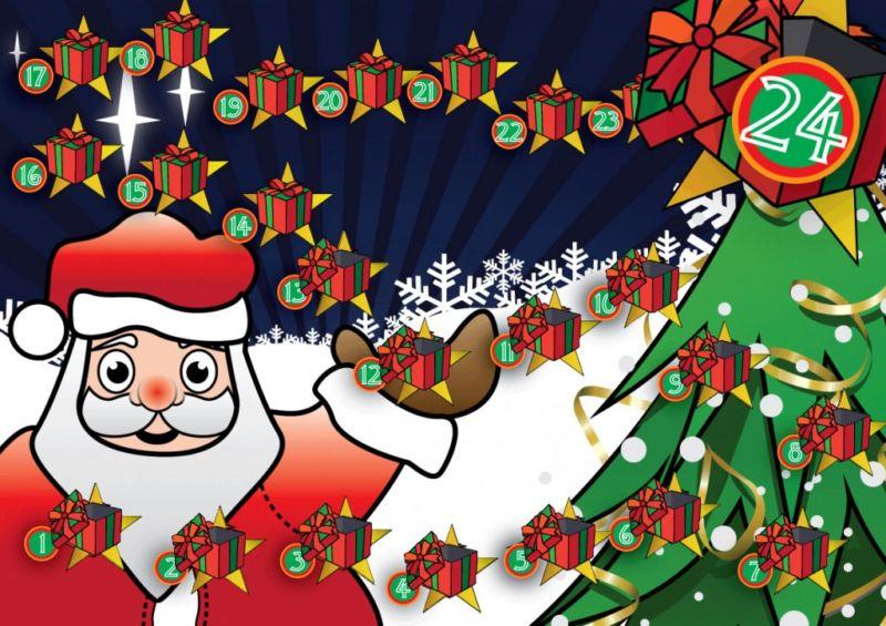 Адвент-календарь для детей к Новому году своими руками с шаблонами и заданиями, которые можно распечатать этап 69