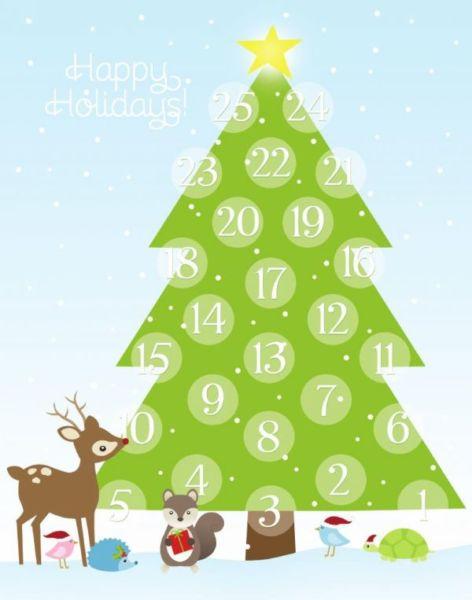 Адвент-календарь для детей к Новому году своими руками с шаблонами и заданиями, которые можно распечатать этап 62