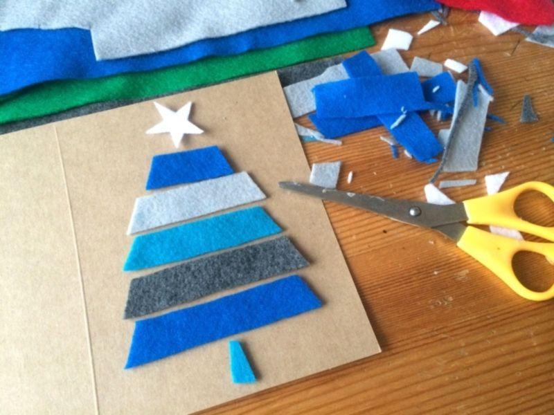 Новогодние открытки своими руками для детей: мастер-классы и шаблоны открыток на Новый год 2021 этап 157
