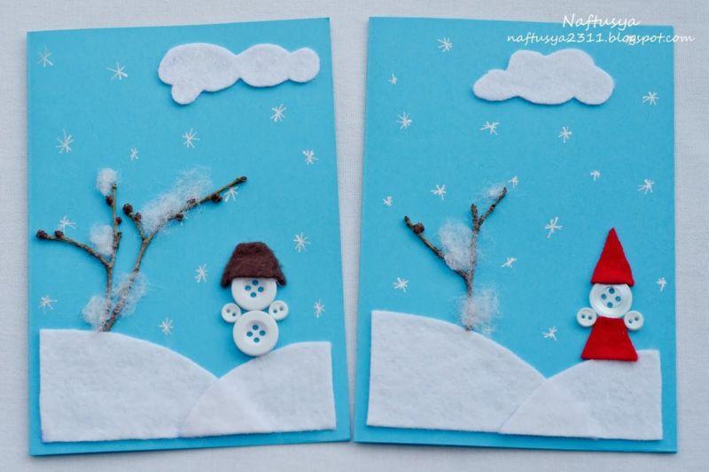 Новогодние открытки своими руками для детей: мастер-классы и шаблоны открыток на Новый год 2021 этап 161
