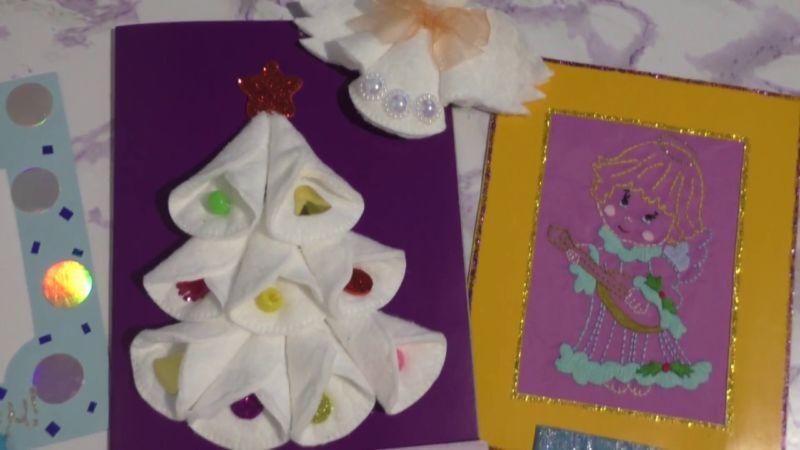 Новогодние открытки своими руками для детей: мастер-классы и шаблоны открыток на Новый год 2021 этап 155