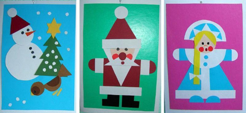Новогодние открытки своими руками для детей: мастер-классы и шаблоны открыток на Новый год 2021 этап 43