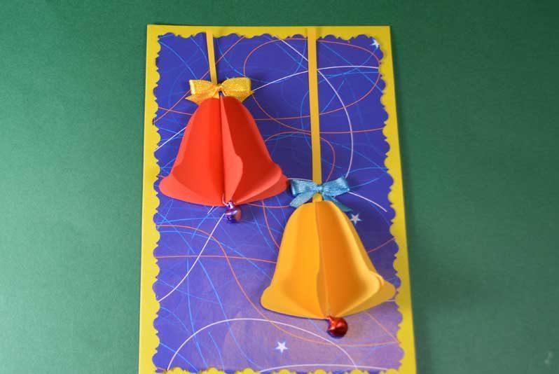Новогодние открытки своими руками для детей: мастер-классы и шаблоны открыток на Новый год 2021 этап 48