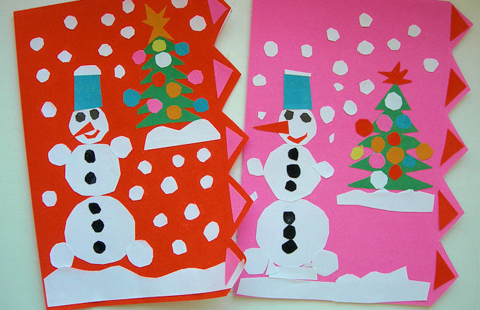Для, красивые открытки родителям в садик с новым годом своими руками