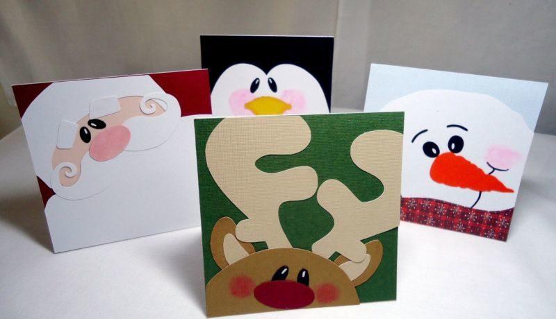 Новогодние открытки своими руками для детей: мастер-классы и шаблоны открыток на Новый год 2021 этап 53