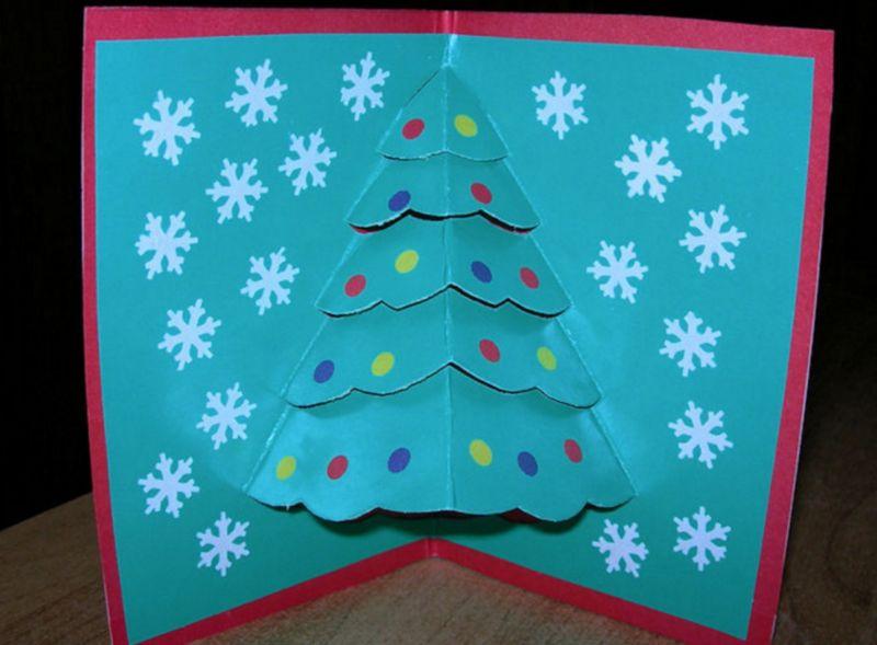 Новогодние открытки своими руками для детей: мастер-классы и шаблоны открыток на Новый год 2021 этап 44