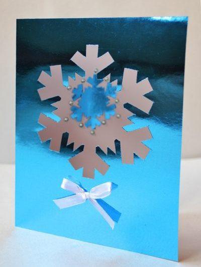 Новогодние открытки своими руками для детей: мастер-классы и шаблоны открыток на Новый год 2021 этап 68