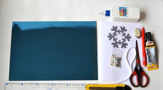 Новогодние открытки своими руками для детей: мастер-классы и шаблоны открыток на Новый год 2021 этап 69
