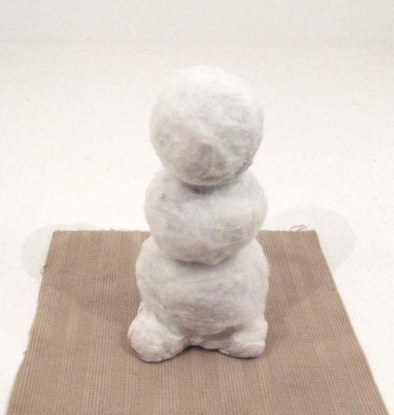 Снеговик своими руками на Новый год из подручных материалов этап 46