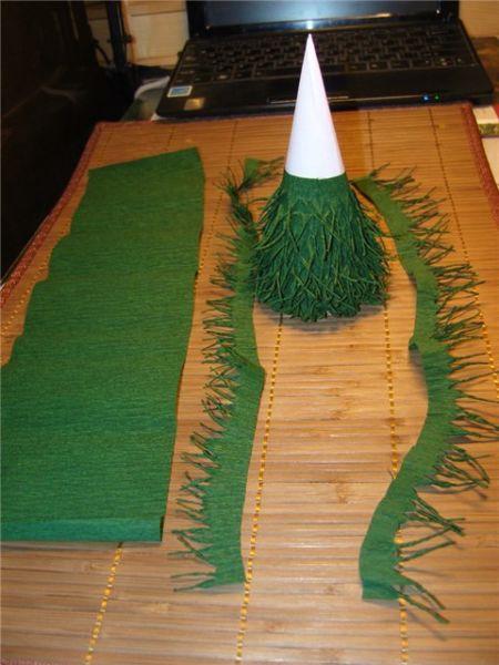 Объемная елка из бумаги — схемы и трафареты для создания елки своими руками этап 56
