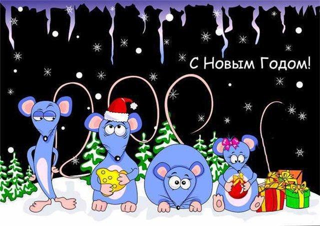 Поздравления с Новым Годом 2020! Красивые, короткие и прикольные пожелания в год Крысы (Мышки) этап 15