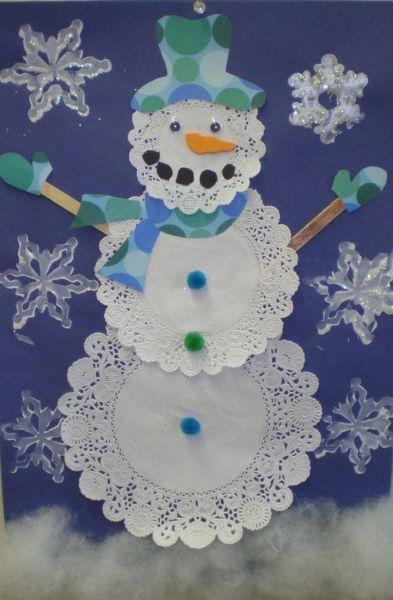 Снеговик своими руками на Новый год из подручных материалов этап 134