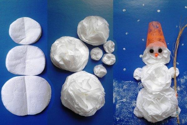Снеговик своими руками на Новый год из подручных материалов этап 132