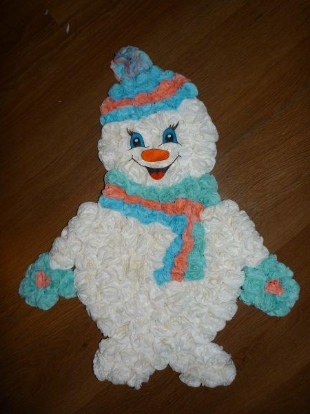 Снеговик своими руками на Новый год из подручных материалов этап 133